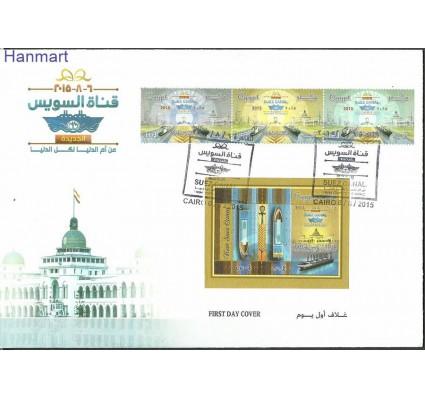 Znaczek Egipt 2015 Mi 2554-2556+bl119 FDC