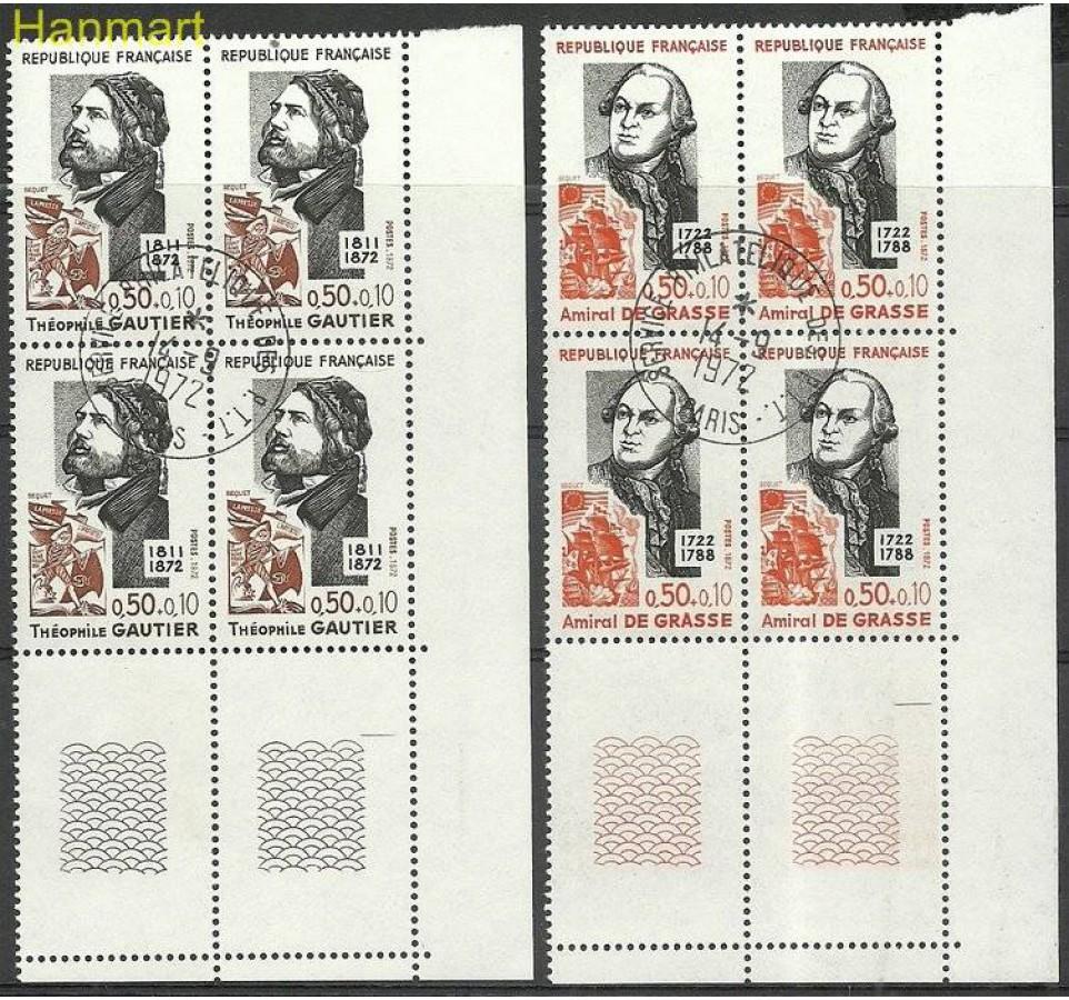 Francja 1972 Mi marvie1806-1807 Stemplowane