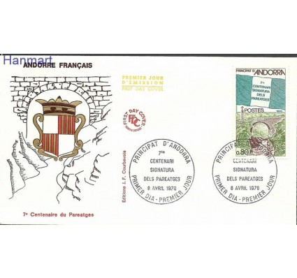Znaczek Andora Francuska 1978 Mi 289 FDC