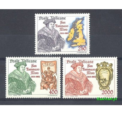 Watykan 1985 Mi 870-872 Czyste **