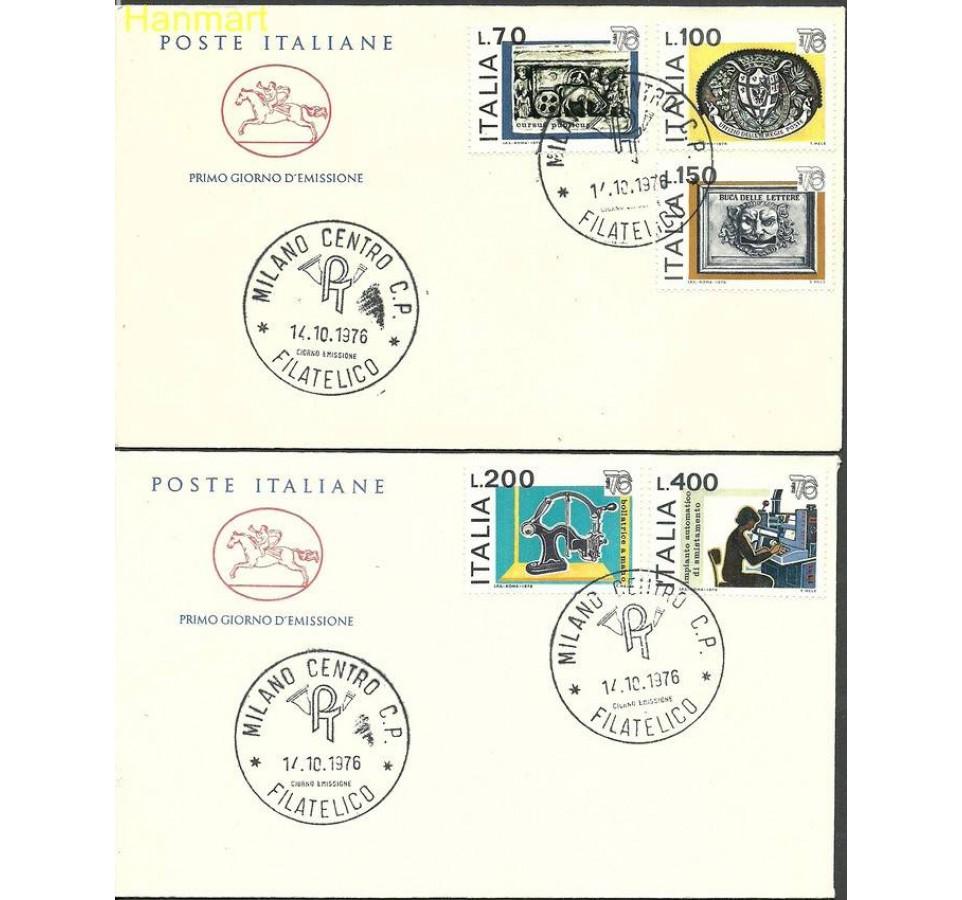 Włochy 1976 Mi 1541-1545b FDC