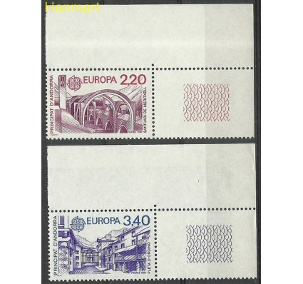 Andora Francuska 1987 Mi 379-380 Czyste **