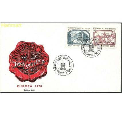 Znaczek Liechtenstein 1978 Mi 692-693b FDC