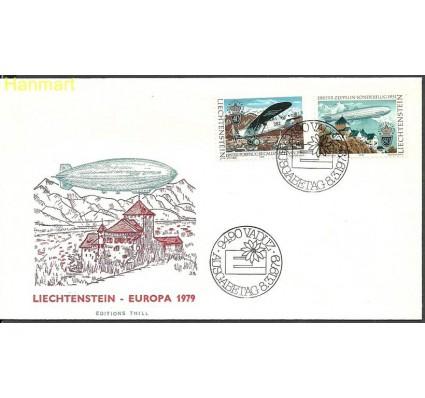 Znaczek Liechtenstein 1979 Mi 723-724b FDC