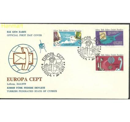 Znaczek Cypr Północny 1979 Mi 71-73 FDC