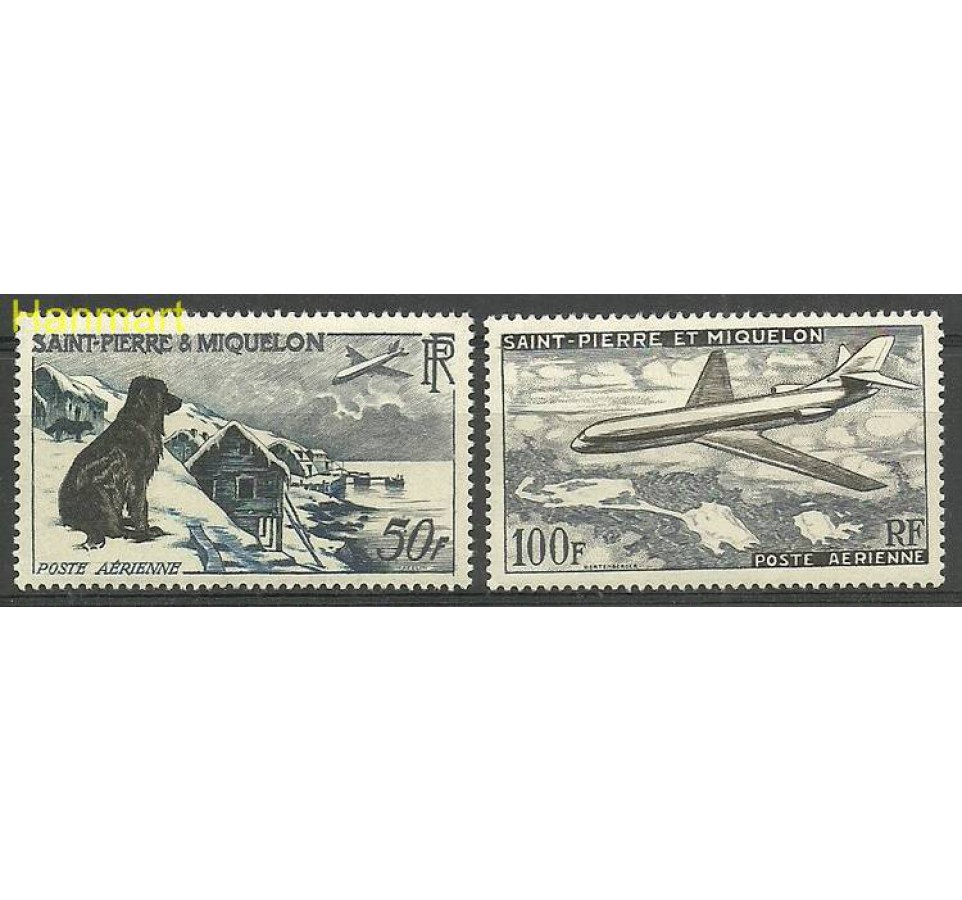 Saint-Pierre i Miquelon 1957 Mi 386-387 Czyste **