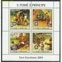 Wyspy Św. Tomasza i Książęca 2004 Mi ark2479-2482 Czyste **