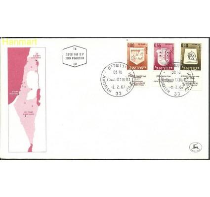Znaczek Izrael 1967 Mi 333+335+337 FDC