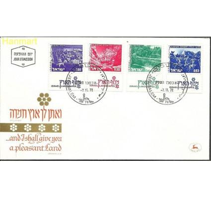 Izrael 1972 Mi 524+525+529+537 FDC