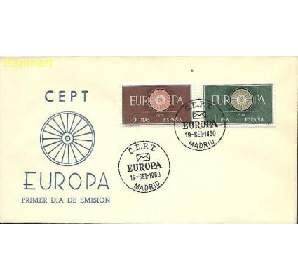 Znaczek Hiszpania 1960 Mi 1189-1190 FDC