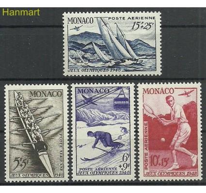 Znaczek Monako 1948 Mi 344-347 Czyste **
