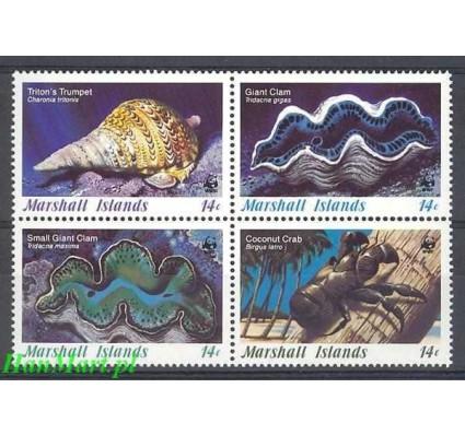 Znaczek Wyspy Marshalla 1986 Mi 73-76 Czyste **