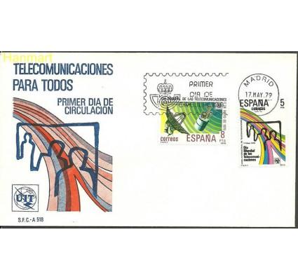 Znaczek Hiszpania 1979 Mi 2414-2415 FDC