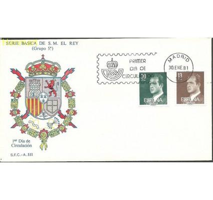Znaczek Hiszpania 1981 Mi 2489-2490x FDC