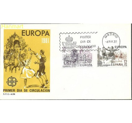 Znaczek Hiszpania 1981 Mi 2498-2499 FDC