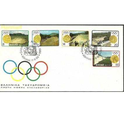 Znaczek Grecja 1980 Mi 1421-1425 FDC