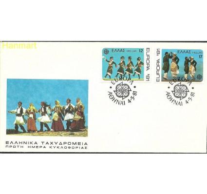 Znaczek Grecja 1981 Mi 1445-1446 FDC