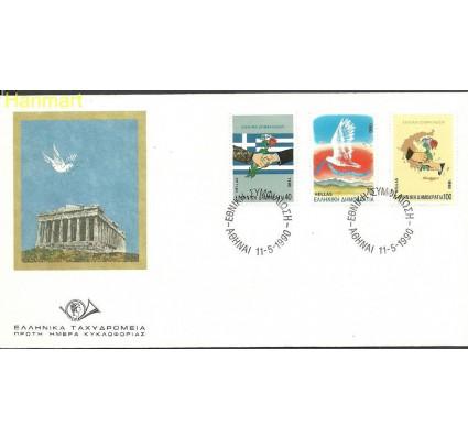 Znaczek Grecja 1990 Mi 1744-1746 FDC