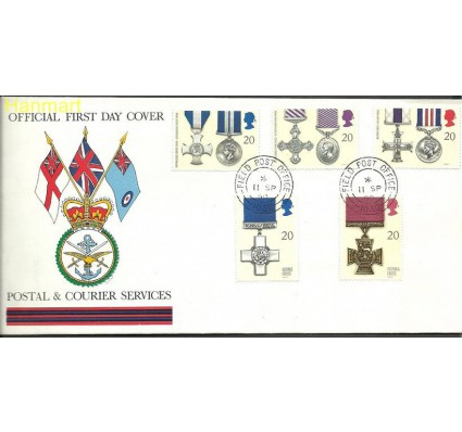 Wielka Brytania 1990 Mi 1290-1294b FDC