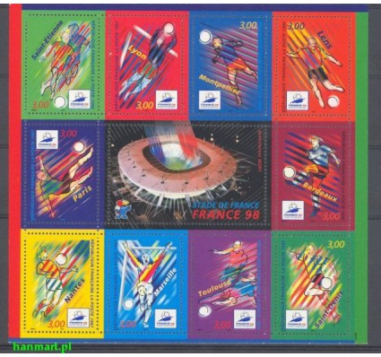 Francja 1998 Mi bl 17 Czyste **