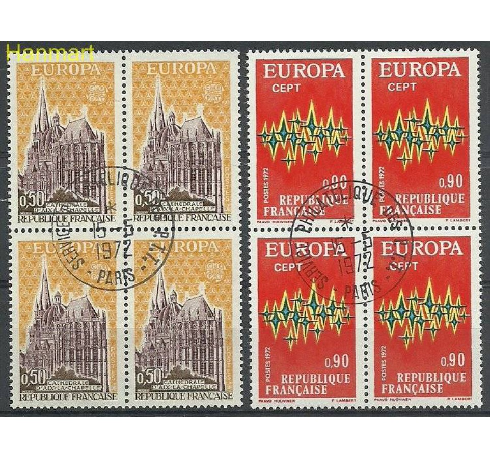 Francja 1972 Mi vie1788-1789 Stemplowane