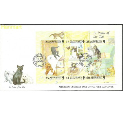 Znaczek Alderney 1996 Mi bl2 FDC