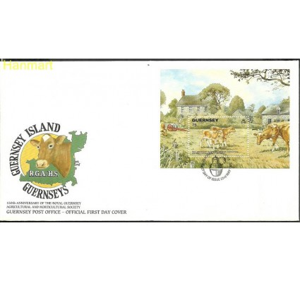 Znaczek Guernsey 1992 Mi bl9 FDC