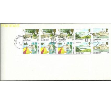 Znaczek Guernsey 1991 Mi h-blatt 37 FDC