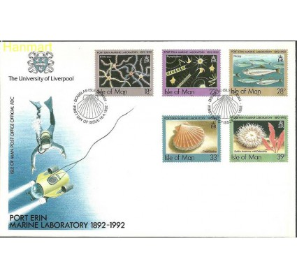 Znaczek Wyspa Man 1992 Mi 507-511 FDC