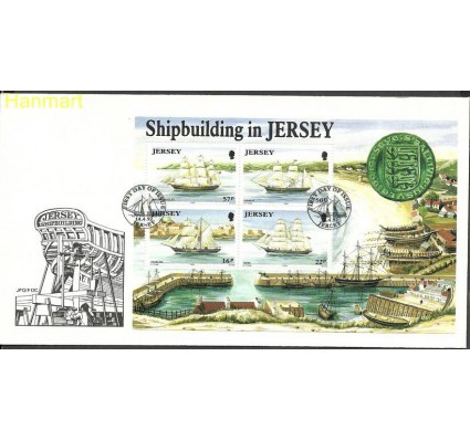 Znaczek Jersey 1992 Mi bl6 FDC