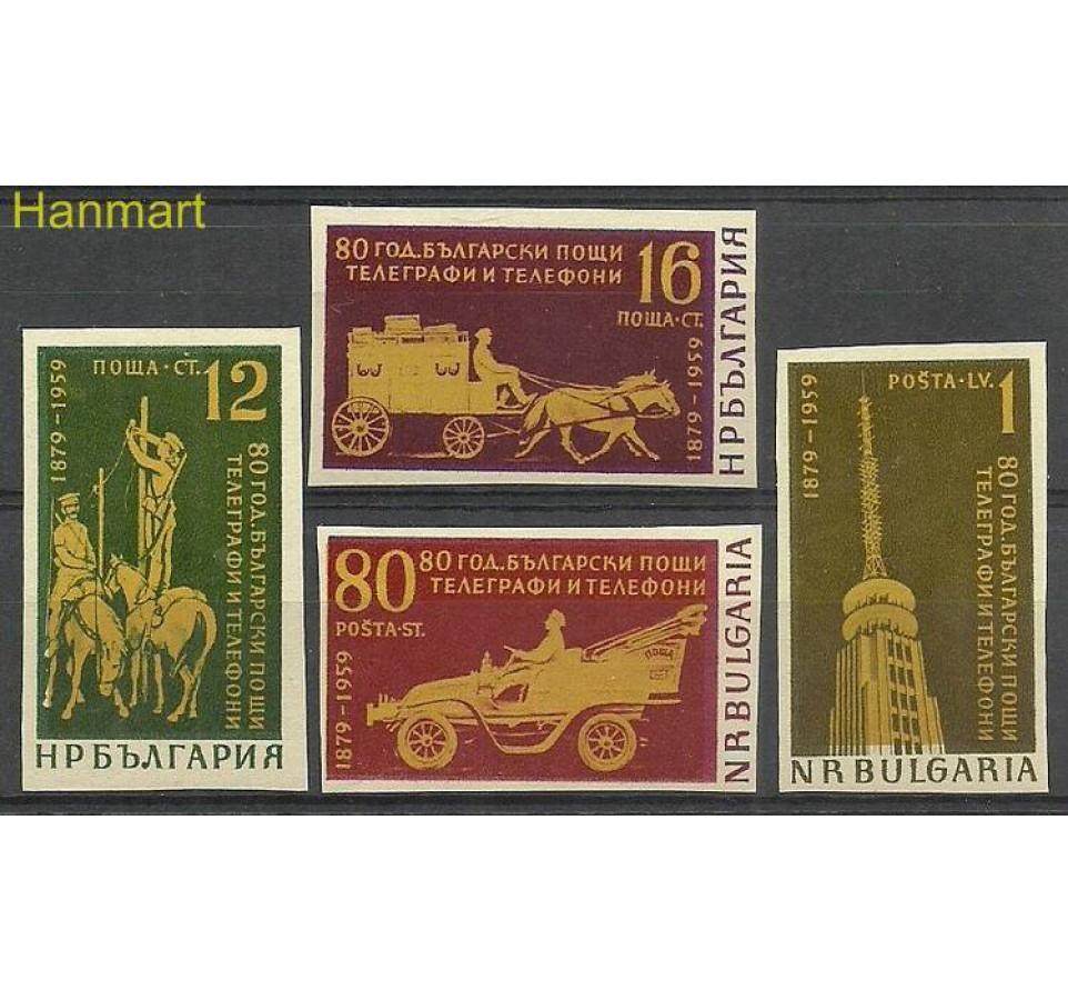 Bułgaria 1959 Mi 1111-1114B Czyste **