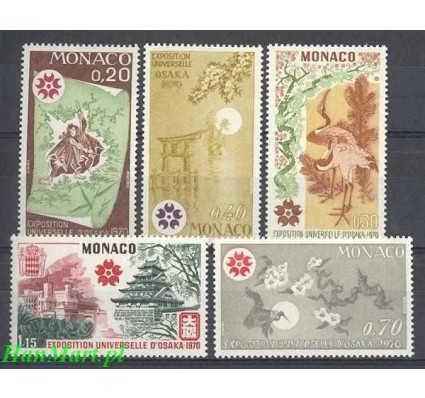 Znaczek Monako 1970 Mi 960-964 Czyste **