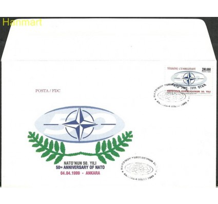 Znaczek Turcja 1999 Mi 3174 FDC