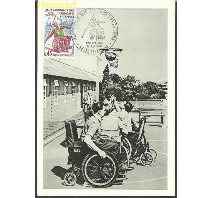 Znaczek Francja 1970 Mi 1719 Karta Max