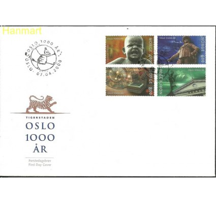 Znaczek Norwegia 2000 Mi 1342-1345 FDC
