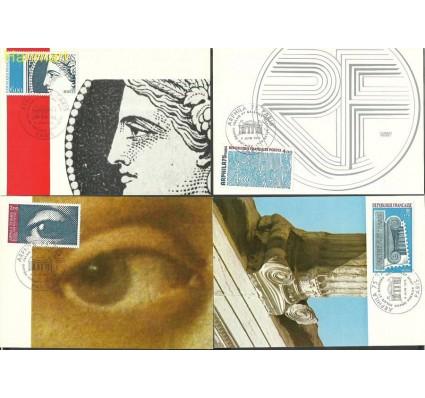 Znaczek Francja 1975 Mi 1923-1926c Karta Max