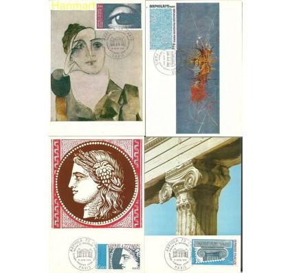Francja 1975 Mi 1923-1926b Karta Max