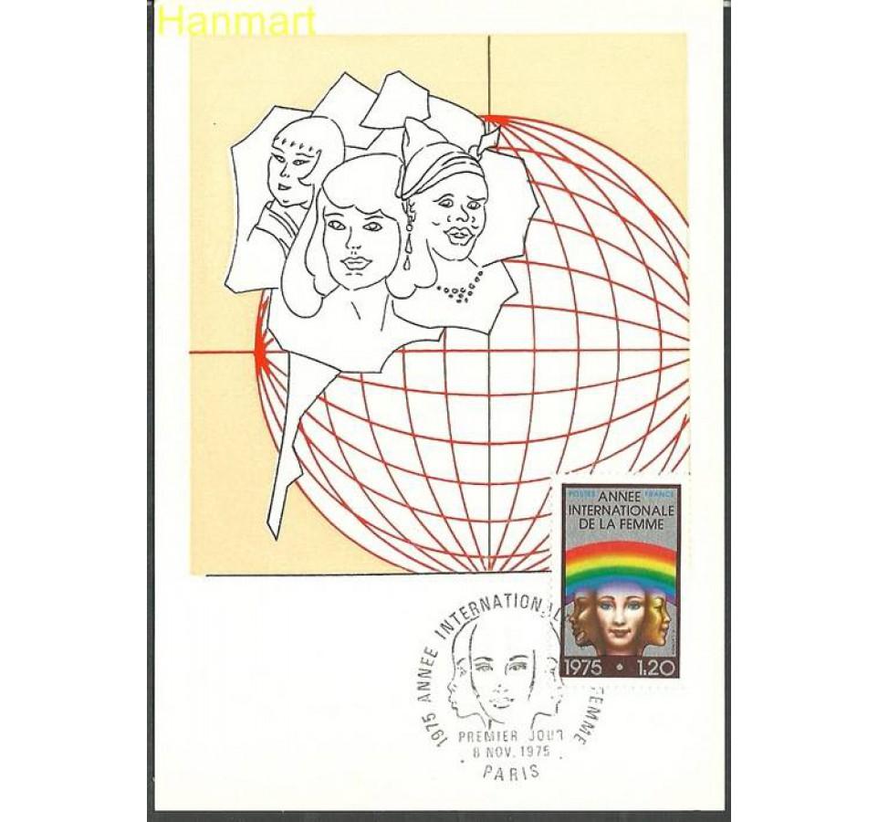 Francja 1975 Mi 1937a Karta Max