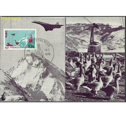 Znaczek Francja 1976 Mi 1952a Karta Max