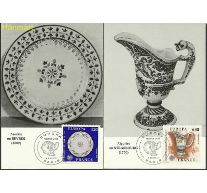 Znaczek Francja 1976 Mi 1961-1962 Karta Max