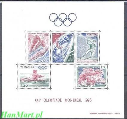 Monako 1976 Mi bl 9 Czyste **