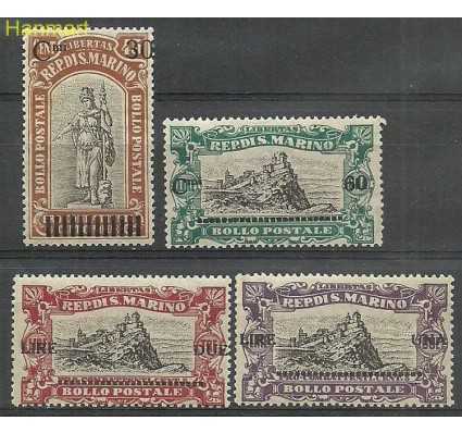 Znaczek San Marino 1924 Mi 105-108 Czyste **
