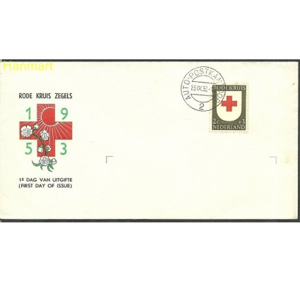 Znaczek Holandia 1953 Mi 615 FDC