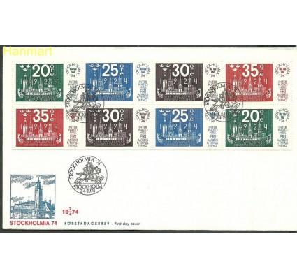 Znaczek Szwecja 1974 Mi h-blatt 72 FDC