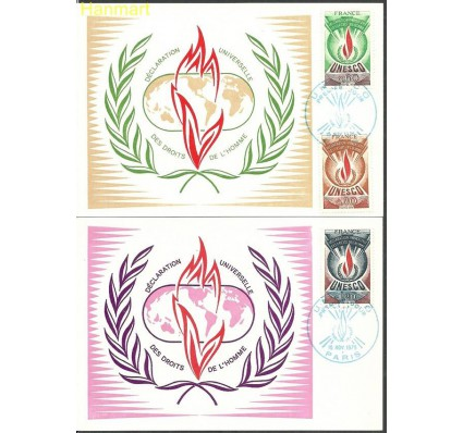 Znaczek Francja 1975 Mi une13-15b Karta Max