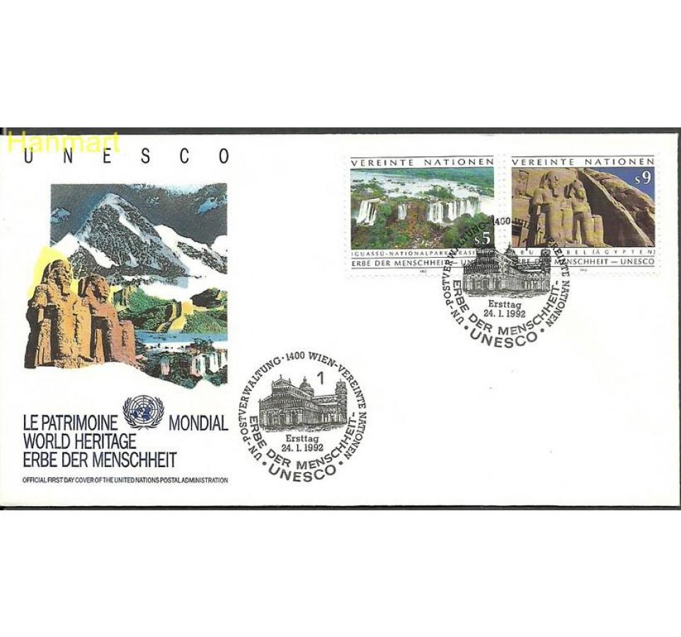 Narody Zjednoczone Wiedeń 1992 Mi 125-126 FDC