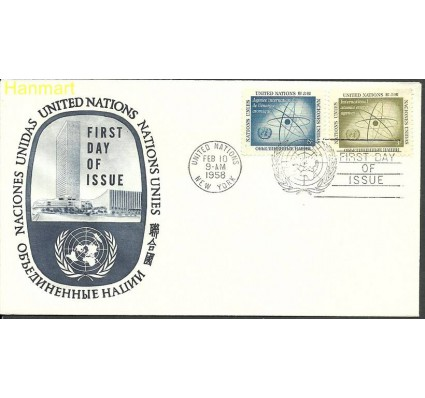 Znaczek Narody Zjednoczone Nowy Jork 1958 Mi 66-67 FDC