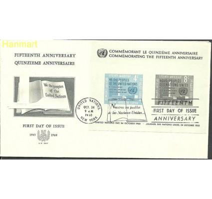 Znaczek Narody Zjednoczone Nowy Jork 1960 Mi bl2b FDC