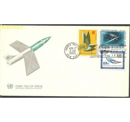 Znaczek Narody Zjednoczone Nowy Jork 1963 Mi 128-130 FDC