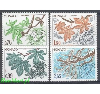 Monako 1980 Mi 1410-1413 Czyste **